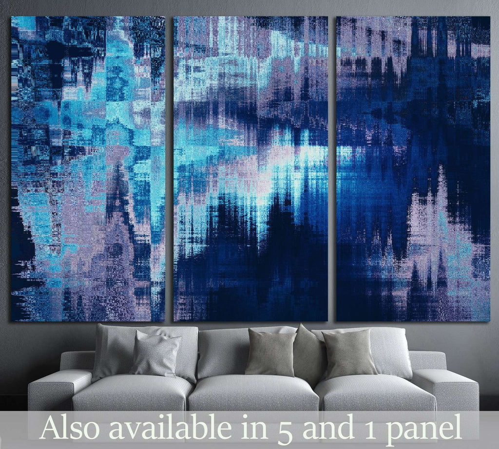 blue blurred abstract background texture with stripes №1423 Ready to Hang Canvas Print