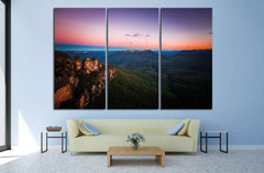 blue mountain, Australia №748 Ready to Hang Canvas Print