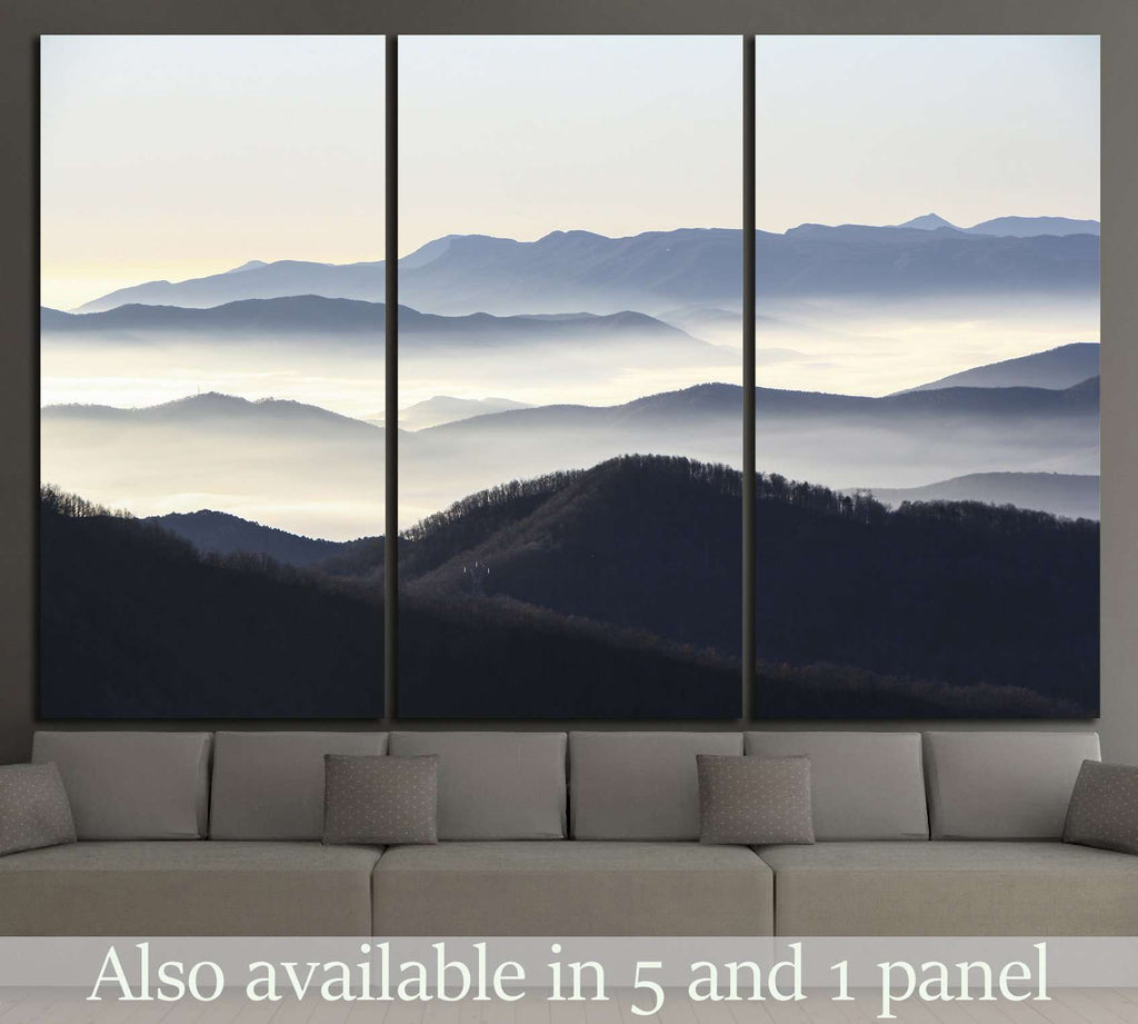 blue mountains №1309 Ready to Hang Canvas Print