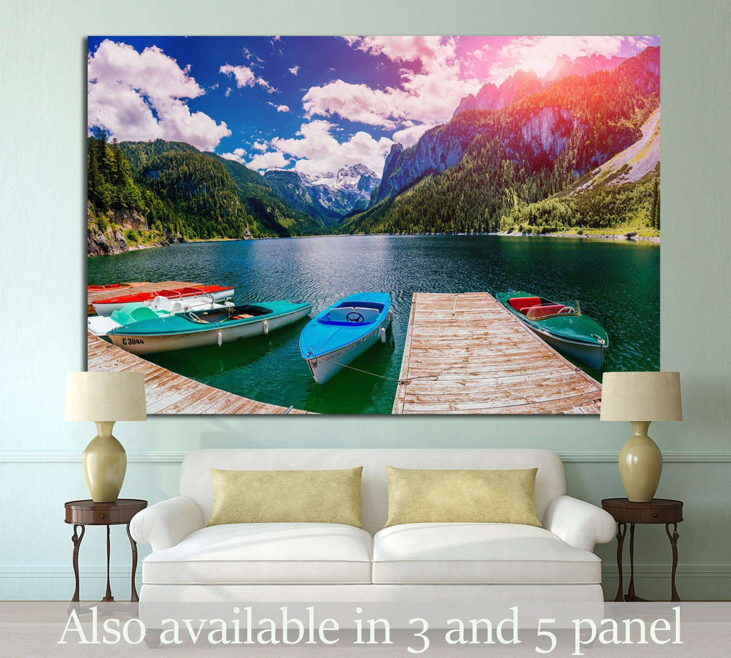 boat at the pier №872 Ready to Hang Canvas Print