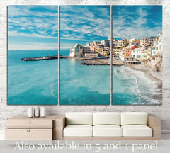 Bogliasco, fishing village in Italy №1122 Ready to Hang Canvas Print