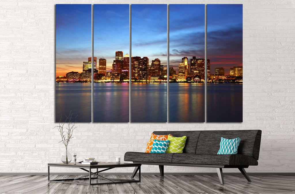 Boston Cityscape №127 Ready to Hang Canvas Print