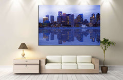 Boston Cityscape №130 Ready to Hang Canvas Print