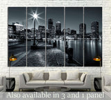 Boston Cityscape №131 Ready to Hang Canvas Print