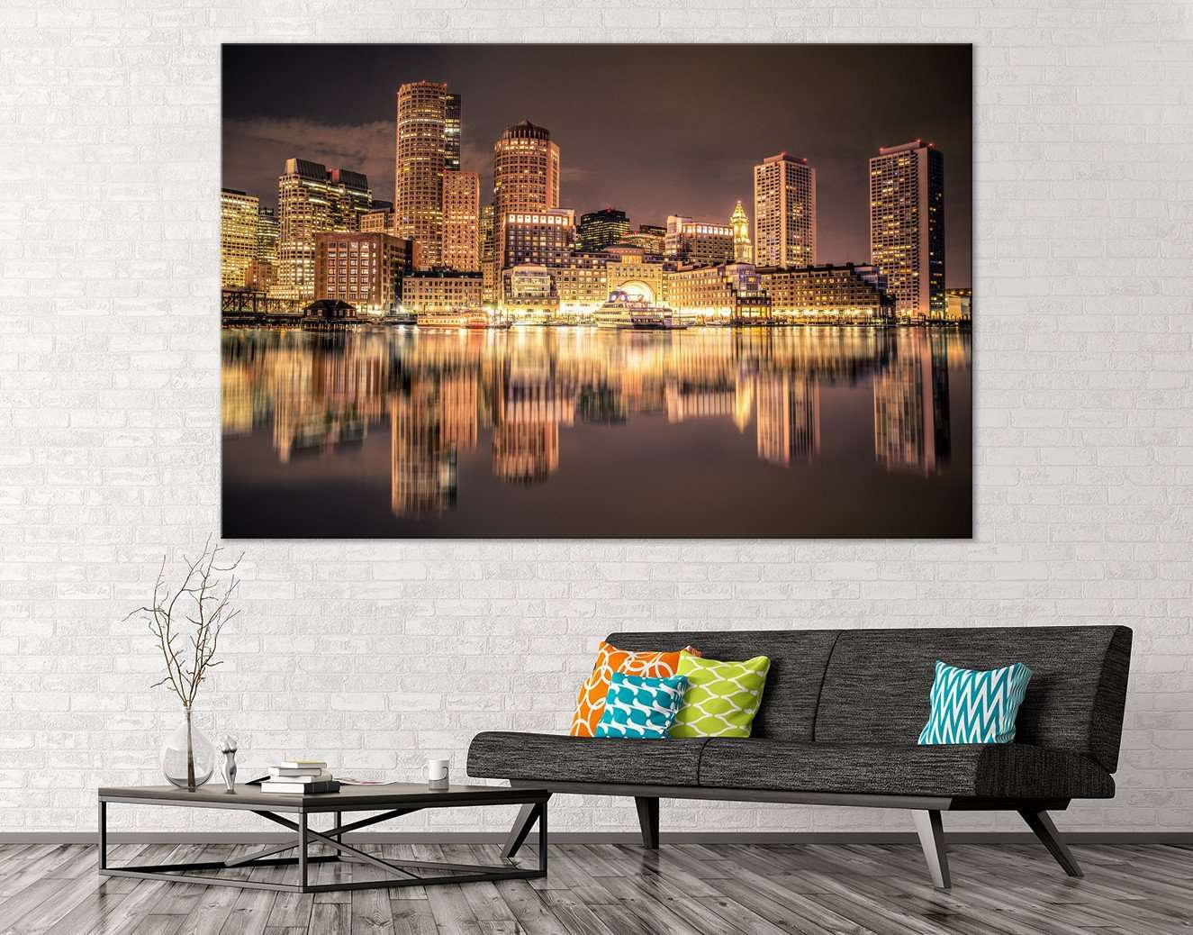 Boston Skyline №126 Ready to Hang Canvas Print