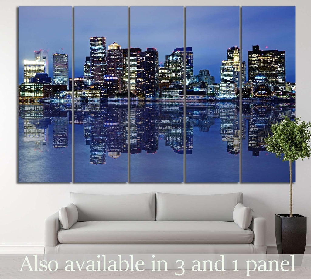 Boston Skyline №129 Ready to Hang Canvas Print