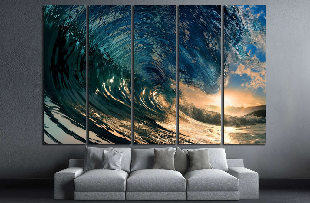 breaking ocean wave №837 Ready to Hang Canvas Print