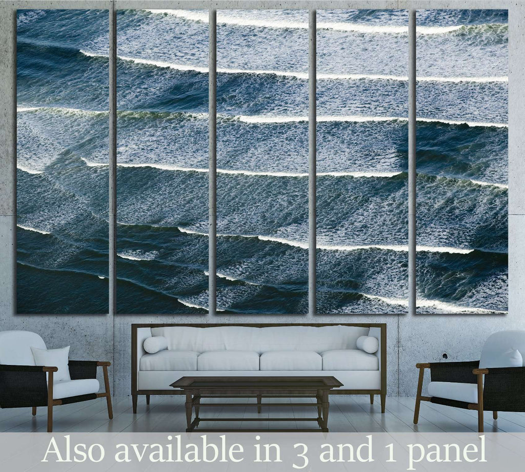 Breaking ocean waves south of Portland, Maine №2543 Ready to Hang Canvas Print