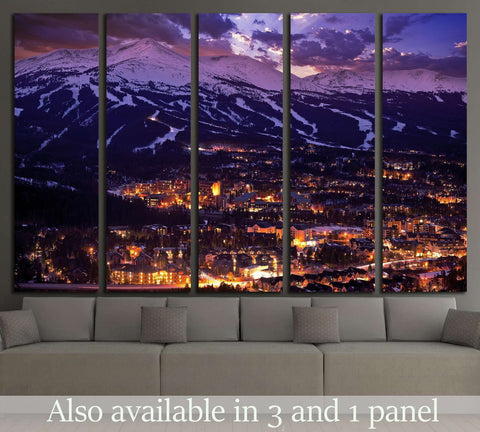 Breckenridge Winter Sunset, Breckenridge, Colorado №1627 Ready to Hang Canvas Print