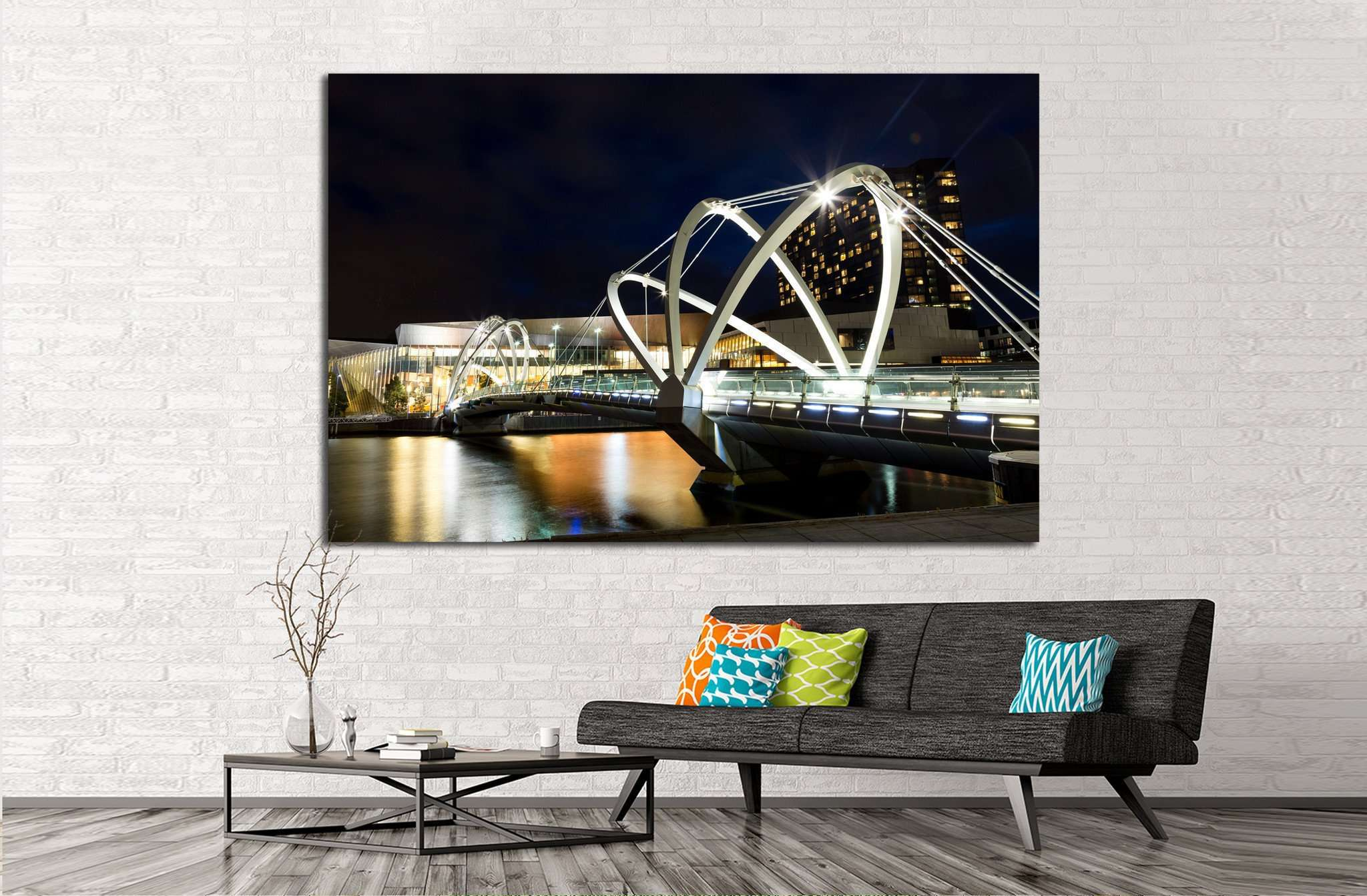 Bridge in Melbourne, Australia №818 Ready to Hang Canvas Print
