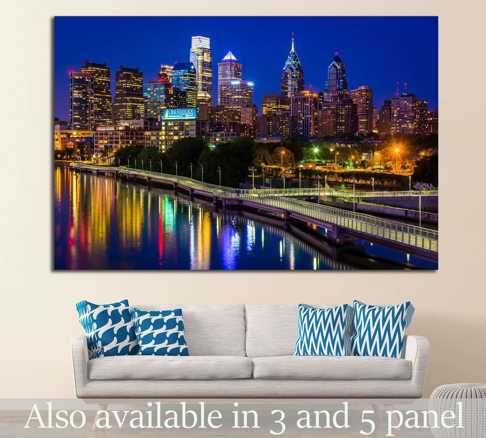 Bridge in Philadelphia, Pennsylvania №898 Ready to Hang Canvas Print