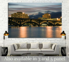 Bridge in Rockford, Illinois, USA №1786 Ready to Hang Canvas Print
