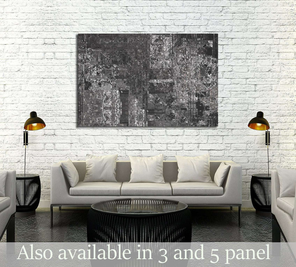 Bright abstract mosaic grey background with gloss №3229 Ready to Hang Canvas Print