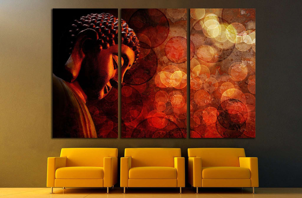 Bronze Zen Buddha №699 Ready to Hang Canvas Print