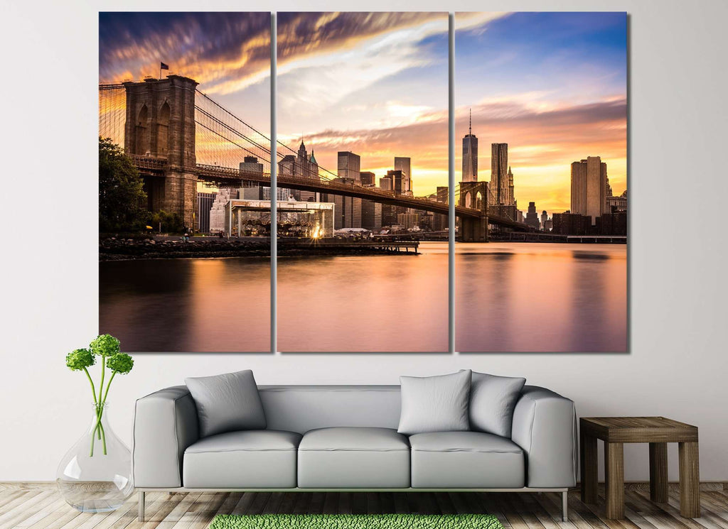 Brooklyn Bridge №124 Ready to Hang Canvas Print