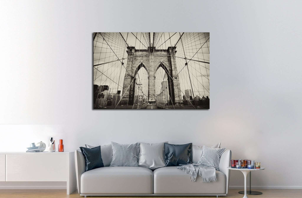 Brooklyn Bridge №563 Ready to Hang Canvas Print