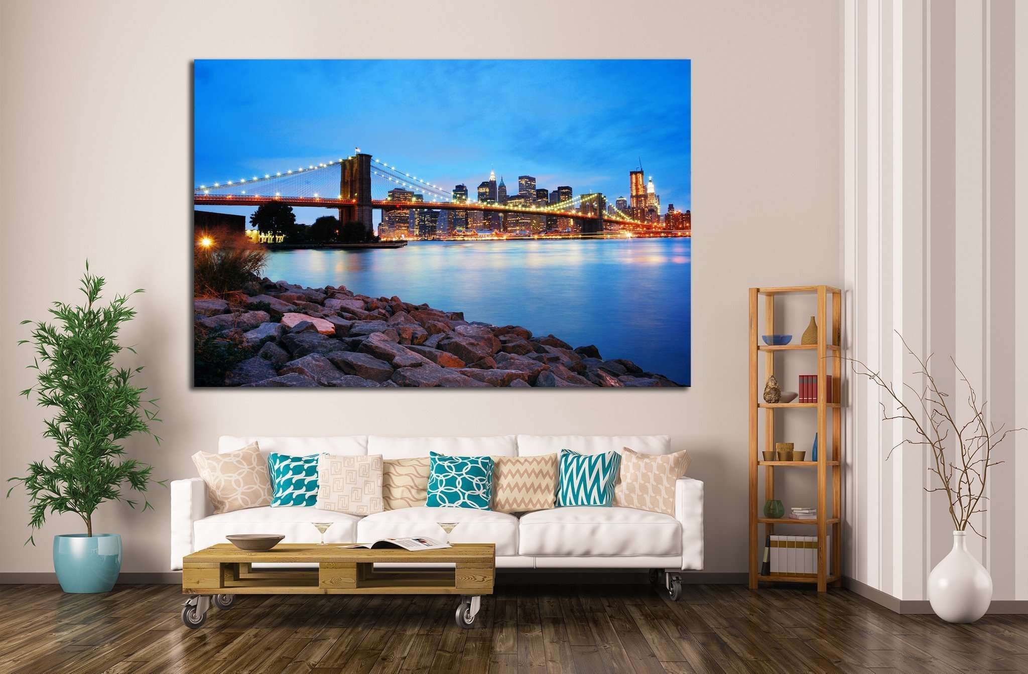 Brooklyn Bridge №760 Ready to Hang Canvas Print