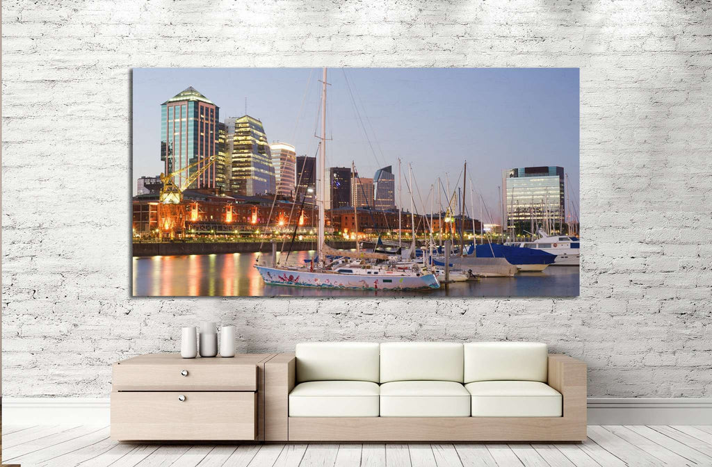 Buenos Aires Cityscape №1142 Ready to Hang Canvas Print
