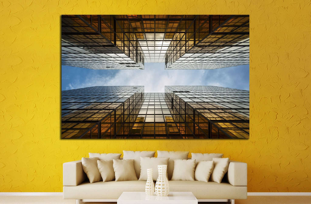 Building Abstract №1046 Ready to Hang Canvas Print