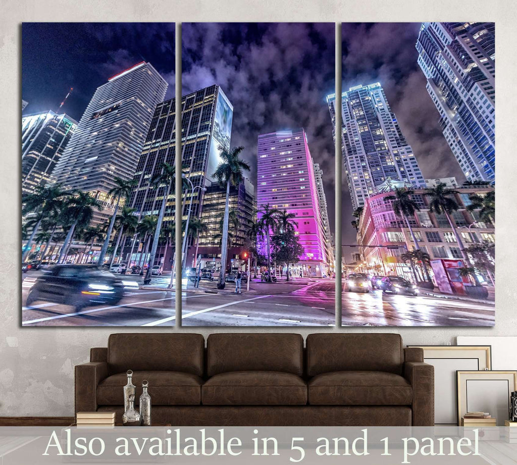 Buildings of Downtown Miami №1098 Ready to Hang Canvas Print