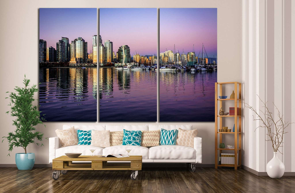 buildings on the waterfront №852 Ready to Hang Canvas Print