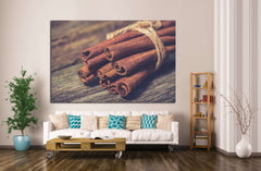 Bunch of cinnamon sticks №1076 Ready to Hang Canvas Print