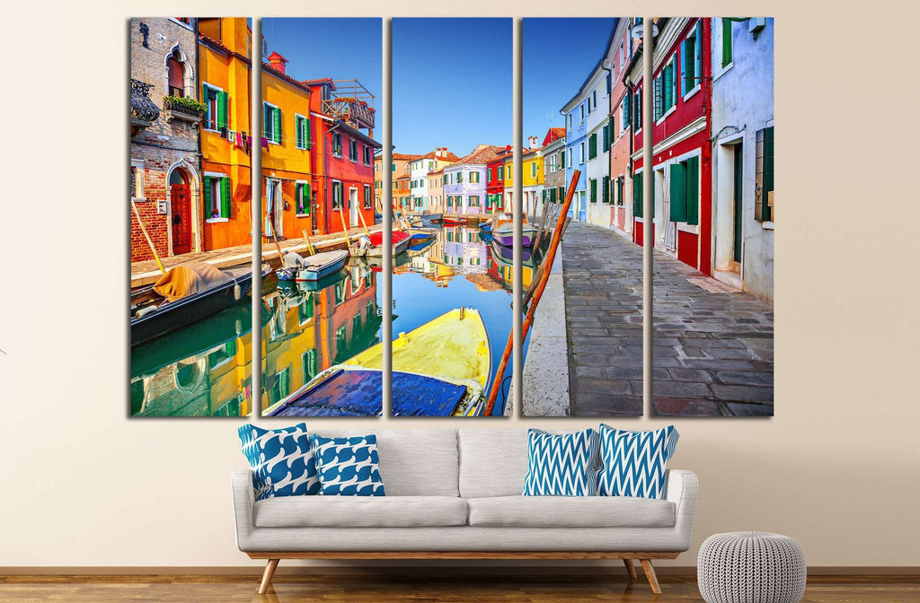 Burano, Venice, Italy №824 Ready to Hang Canvas Print