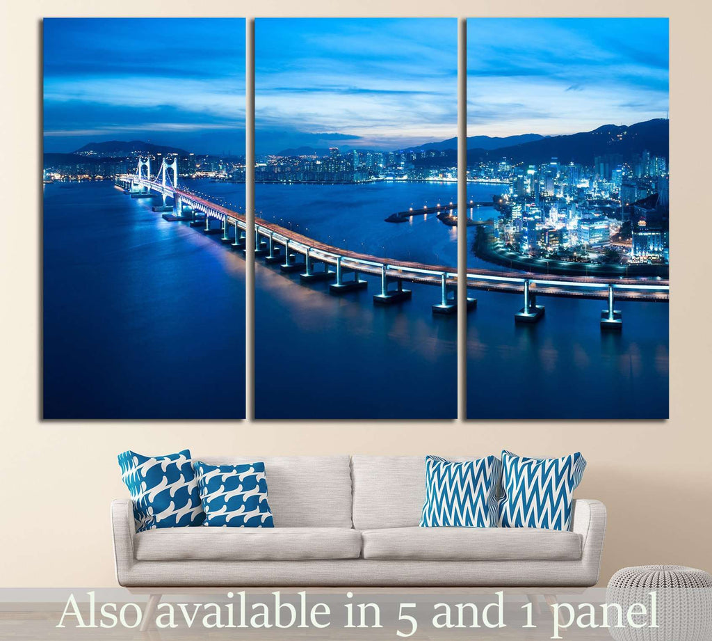 Busan Diamond bridge №573 Ready to Hang Canvas Print