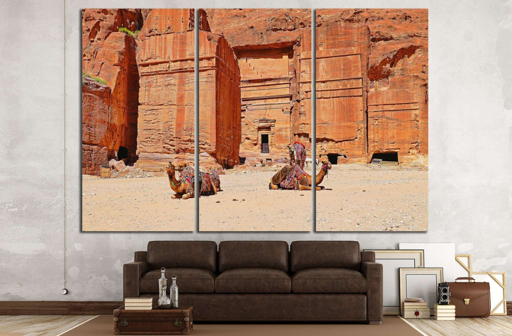 Camels Relaxed №810 Ready to Hang Canvas Print