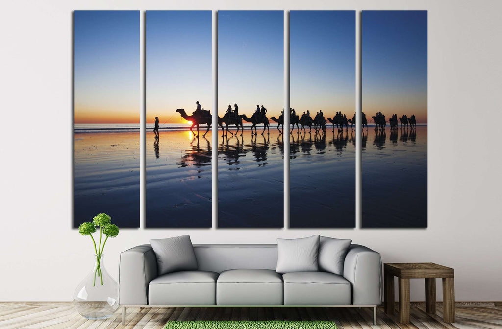 Camels walking on Cable Beach Broome Western Australia during sunset ?2381 Ready to & Camels walking on Cable Beach Broome Western Australia during ...