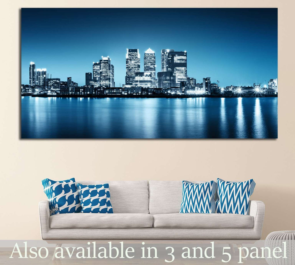 Canary Wharf №576 Ready to Hang Canvas Print