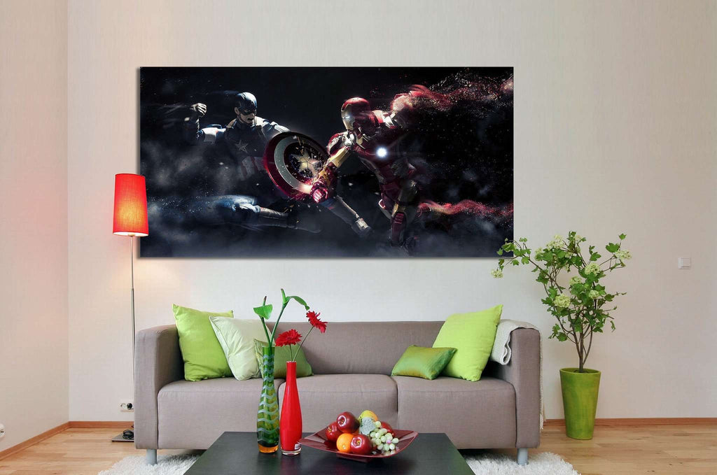 Captain America & Iron Man №2012 Ready to Hang Canvas Print