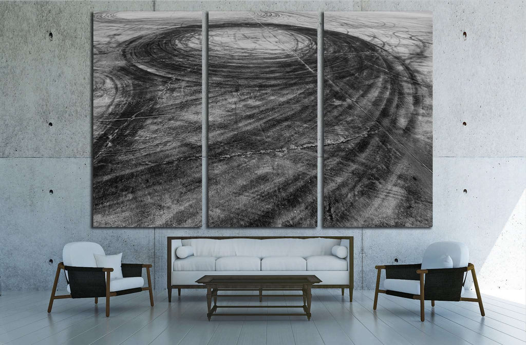 Car drift skid marks №1889 Ready to Hang Canvas Print