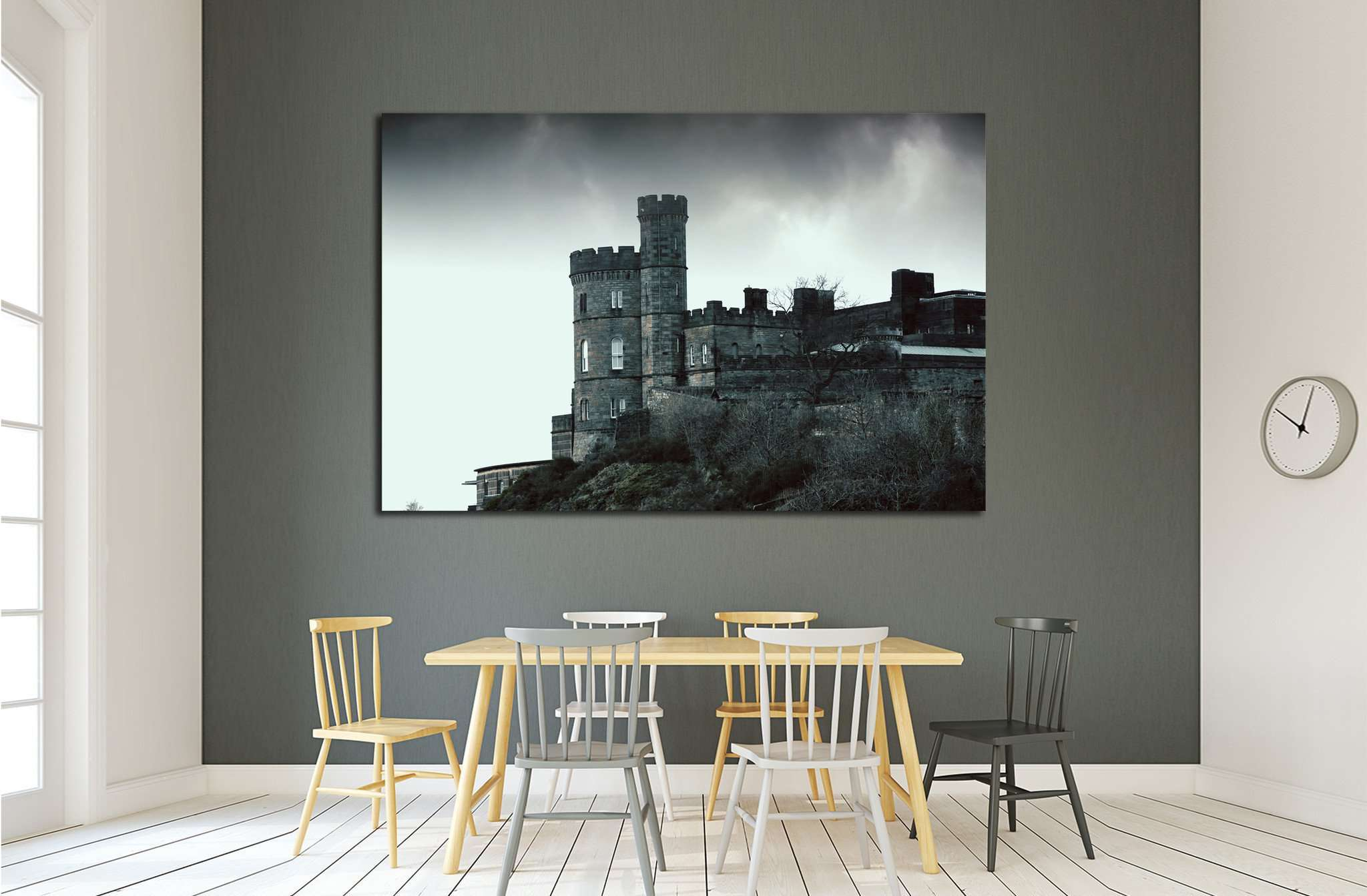 Castle on the rock - horror picture №1801 Ready to Hang Canvas Print
