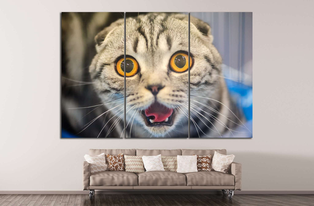 Cat with yellow eyes №14 Ready to Hang Canvas Print