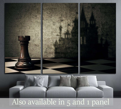 Chess Board №3243 Ready to Hang Canvas Print