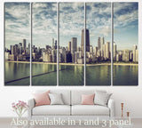 Chicago Cityscape, Illinois №243 Ready to Hang Canvas Print