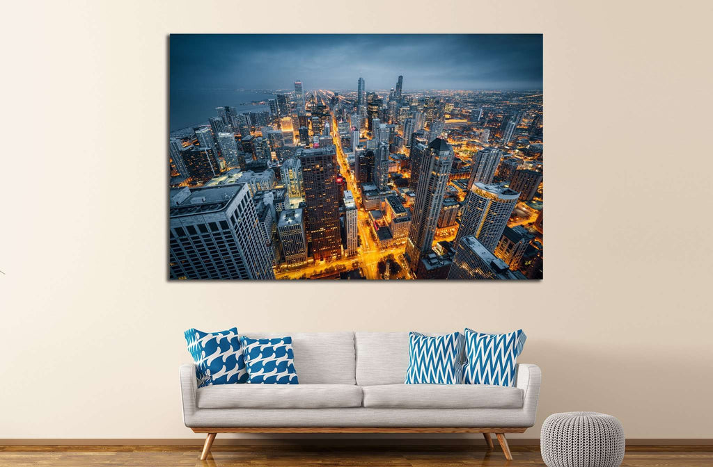 Chicago Cityscape, Illinois №244 Ready to Hang Canvas Print