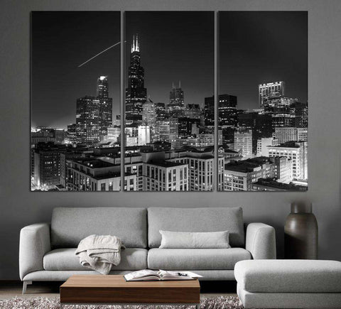 Chicago Cityscape №1098 Ready to Hang Canvas Print