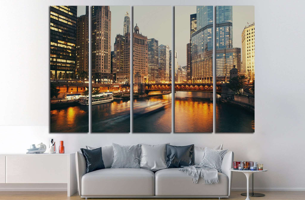Chicago, Illinois №241 Ready to Hang Canvas Print