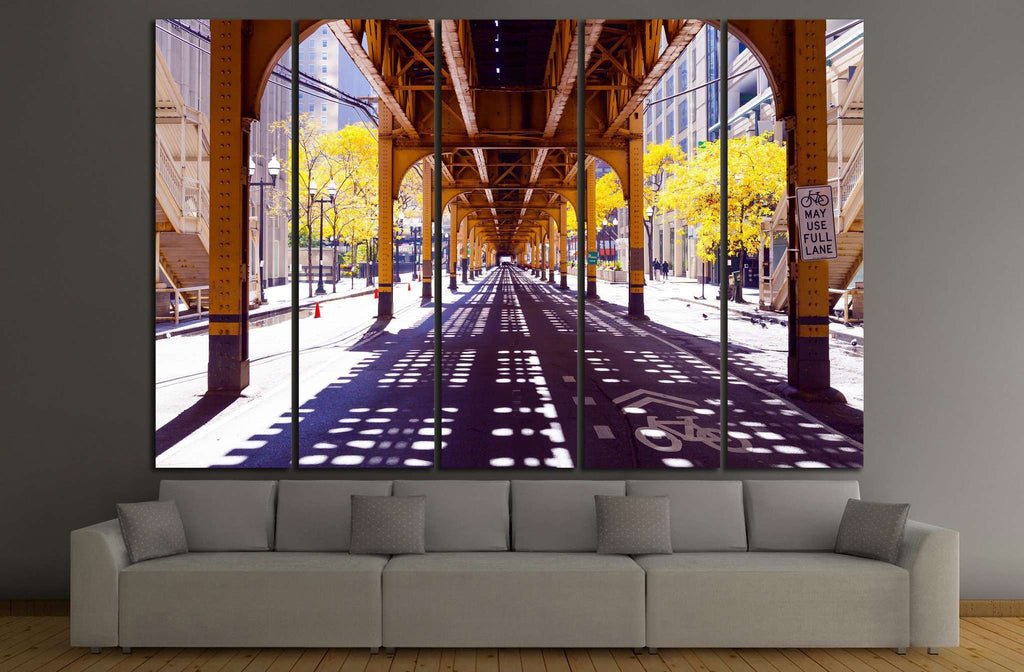 Chicago Street №882 Ready to Hang Canvas Print
