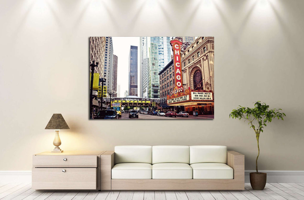 Chicago Theater on State Street, Chicago, Illinois №2141 Ready to Hang Canvas Print