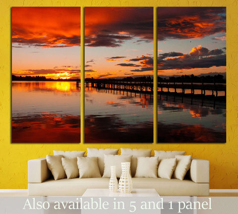 Christchurch New Zealand Sunset №2688 Ready to Hang Canvas Print