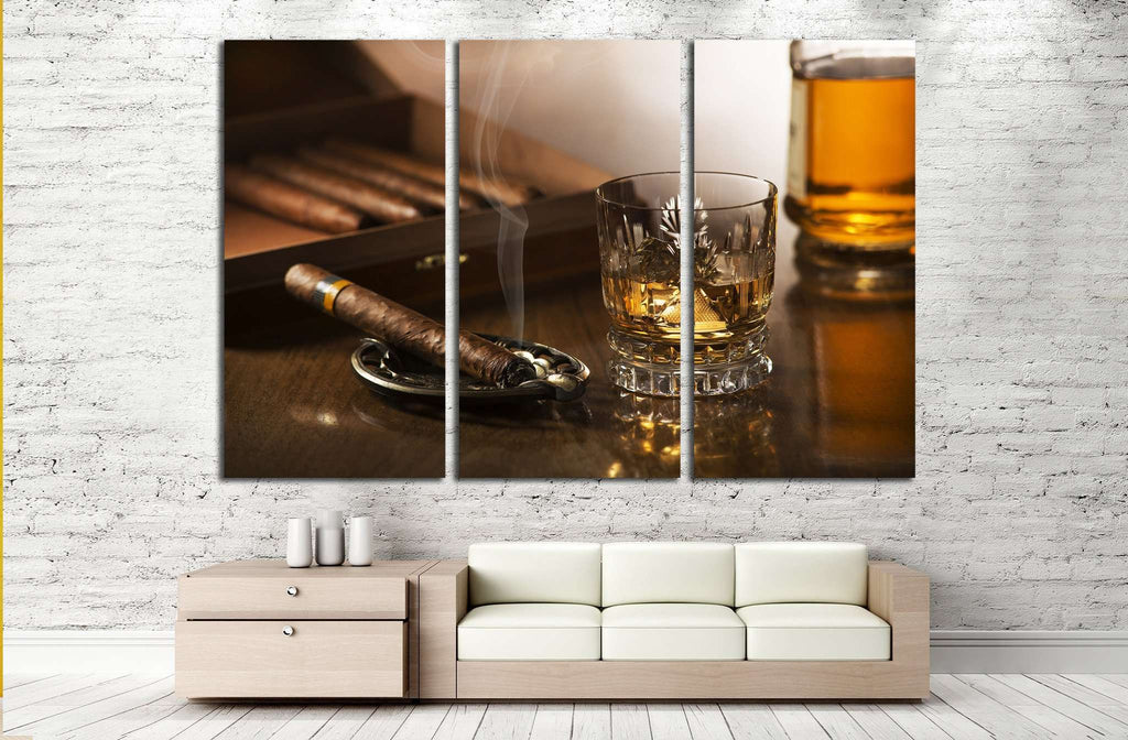 Cigar and Smoke №538 Ready to Hang Canvas Print