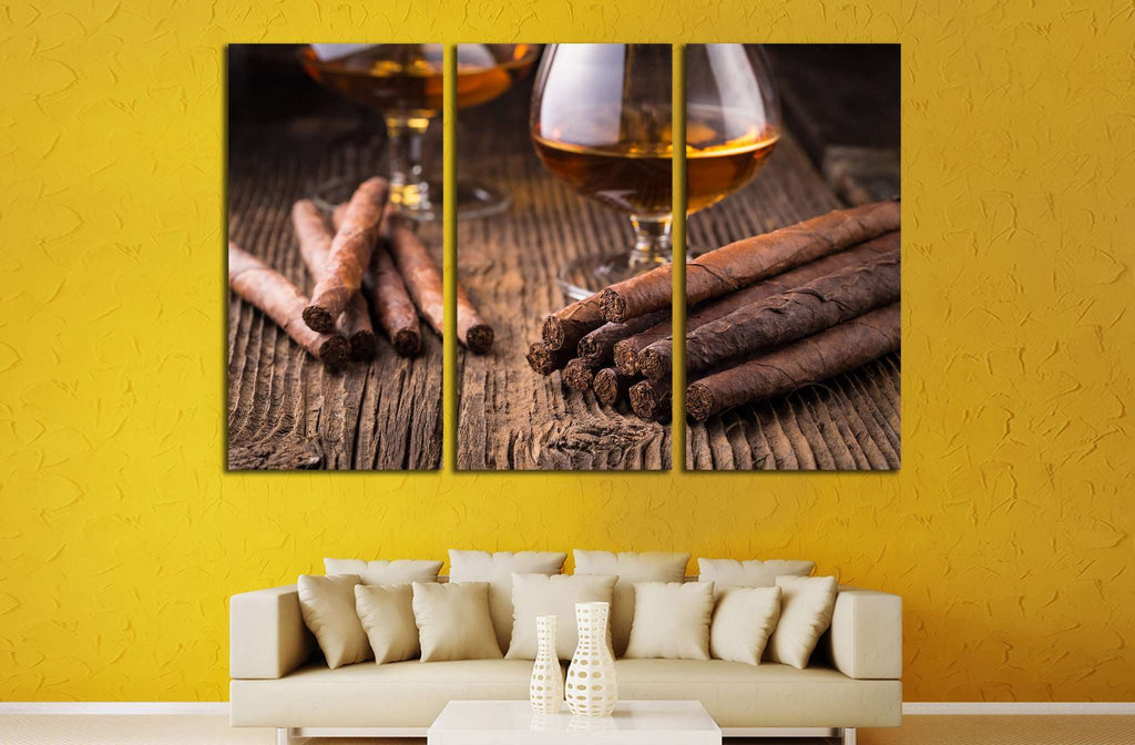 Cigar and Whiskey №531 Ready to Hang Canvas Print