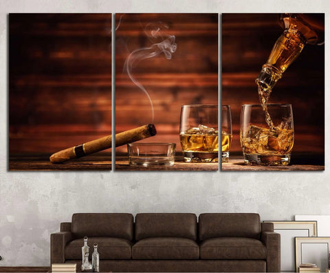 Cigar Wall Art №541 Ready to Hang Canvas Print