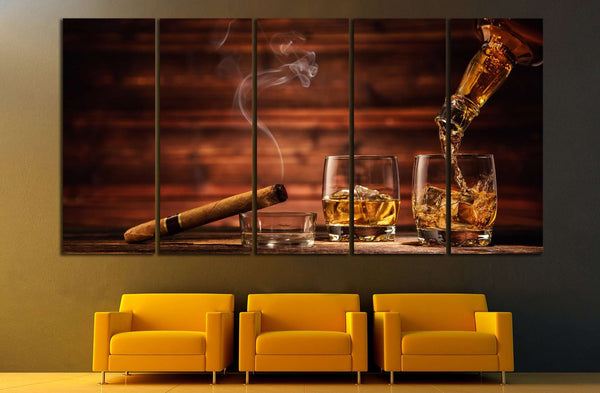 Cigar Wall Art №541 Ready To Hang Canvas Print Canvas