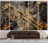 City abstract №1637 Ready to Hang Canvas Print