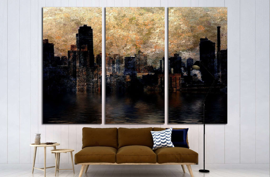 City №1617 Ready to Hang Canvas Print