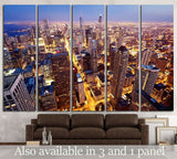 City of Chicago №1508 Ready to Hang Canvas Print